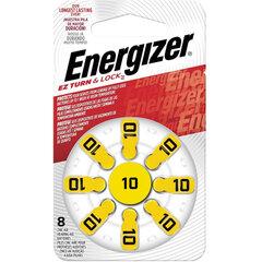 Батарейки для слуховых аппаратов КОМПЛЕКТ 8 шт., ENERGIZER Zinc Air 10, блистер
