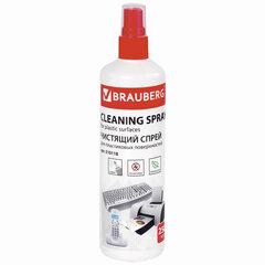 Чистящая жидкость-спрей BRAUBERG для любых пластиковых поверхностей, 250 мл, 510118
