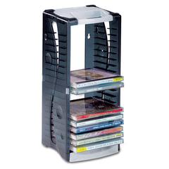 Подставка для CD/DVD BRAUBERG, на 20 дисков, разборная, упаковка с европодвесом
