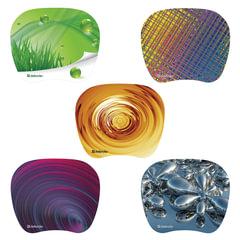 Коврик для мыши DEFENDER Turbo, ПВХ+полиуретан, 210x175x1,2 мм, 10 видов, 50603