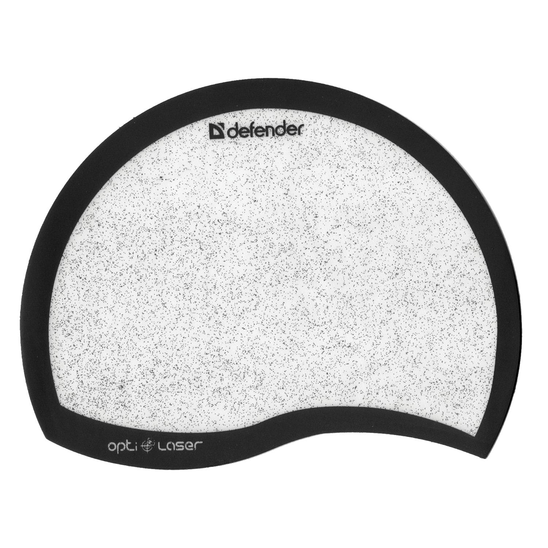 """Коврик для мыши DEFENDER """"Ergo opti-laser"""", пвх+полиуритан, 215х165х1,2 мм, черный, 50511"""