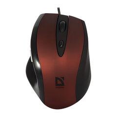 Мышь проводная DEFENDER Opera 880, USB, 5 кнопок + 1 колесо-кнопка, оптическая, красно-черная, 52832