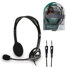 Наушники с микрофоном (гарнитура) LOGITECH H110, проводная, компьютерная, 1,83 м, стерео, 2 x mini jack 3,5 мм, черная