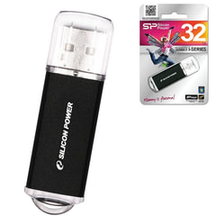 Флеш-диск 32 GB, SILICON POWER Ultima II-I Series, USB 2.0, металлический корпус, черный, SP32GBUF2M01V1K