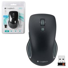 Мышь беспроводная LOGITECH M560, 5 кнопок + 1 колесо-кнопка, оптическая, черная, 910-003882