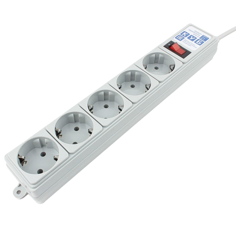 Сетевой фильтр POWER CUBE B для подключения к UPS, 5 розеток, 1,9 м, серый, SPG-B-6Ext