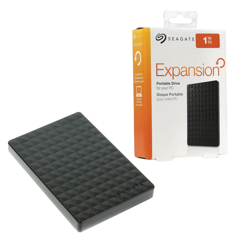 """Внешний жесткий диск SEAGATE Expansion 1 ТВ, 2.5"""", USB 3.0, черный, STEA1000400"""