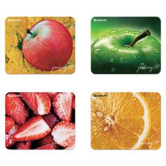Коврик для мыши DEFENDER Juicy sticker, полипропилен на клейкой основе, 220х180х0,4 мм, 4 вида, 50412