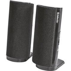 Колонки компьютерные DEFENDER SPK-210, 2.0, 4 Вт, 3,5 мм мини-джек, пластик, черные, 65210