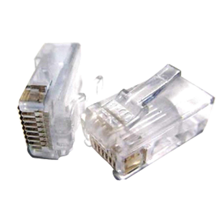 Коннекторы (вилки) RJ-45, комплект 100 шт., универсальные, категория 5e, 8p8c, PLUG3UP6/5