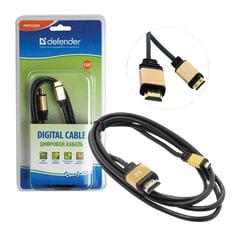 Кабель HDMI-mini HDMI, 1,8 м, DEFENDER, M-M, для передачи цифрового аудио-видео, 87441