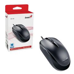 Мышь проводная GENIUS DX-120, USB, 2 кнопки + 1 колесо-кнопка, оптическая, черная, 31010105100