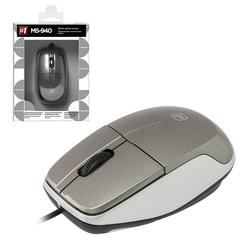 Мышь проводная DEFENDER MS-940, USB, 2 кнопки + 1 колесо-кнопка, оптическая, серая, 52942