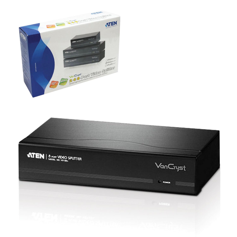Разветвитель SVGA ATEN, 4-портовый, для передачи аналогового видео, каскадируемый, VS134A