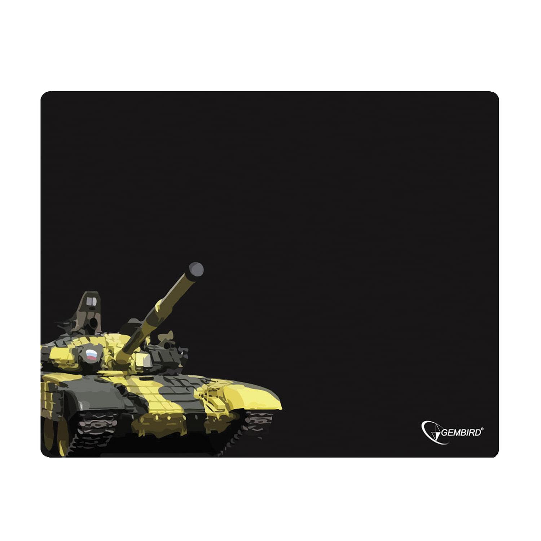 "Коврик для мыши GEMBIRD MP-GAME13 ""Танк"", ткань+резина, 437х350х3 мм, черный"
