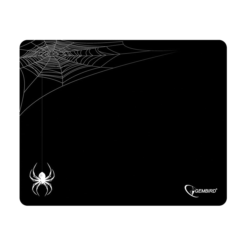 "Коврик для мыши GEMBIRD MP-GAME11 ""Паук"", ткань+резина, 250х200х3 мм, черный"