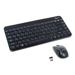 Набор беспроводной GEMBIRD KBS-7004, клавиатура, 12 дополнительных клавиш, мышь 3 кнопки + 1 колесо, черный