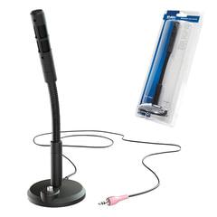 Микрофон настольный SVEN MK-490, кабель 2,4 м, 58 дБ, гибкая ножка, кнопка включения, черный