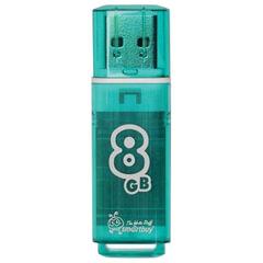 Флеш-диск 8 GB, SMARTBUY Glossy, USB 2.0, зеленый, SB8GBGS-G