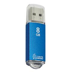 Флеш-диск 8 GB, SMARTBUY V-Cut, USB 2.0, металлический корпус, синий, SB8GBVC-B
