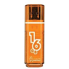 Флеш-диск 16 GB, SMARTBUY Glossy, USB 2.0, оранжевый, SB16GBGS-Or