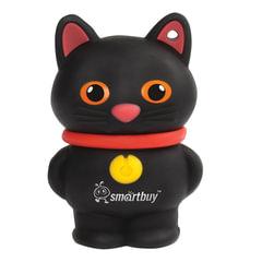 """Флеш-диск сувенирный 16 GB, SMARTBUY Wild """"Котенок"""", USB 2.0, черный, SB16GBCatK"""