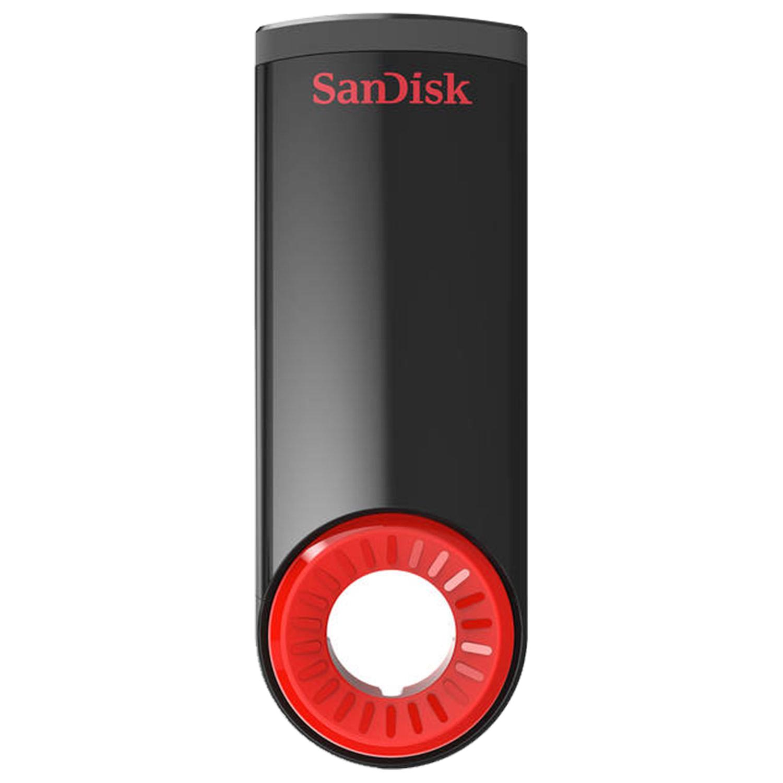 Флеш-диск 32 GB, SANDISK Cruzer Dial, USB 2.0, черный/красный, SDCZ57-032G-B35