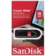 Флеш-диск 16 GB, SANDISK Cruzer Glide, USB 2.0, черный, SDCZ60-016G-B35