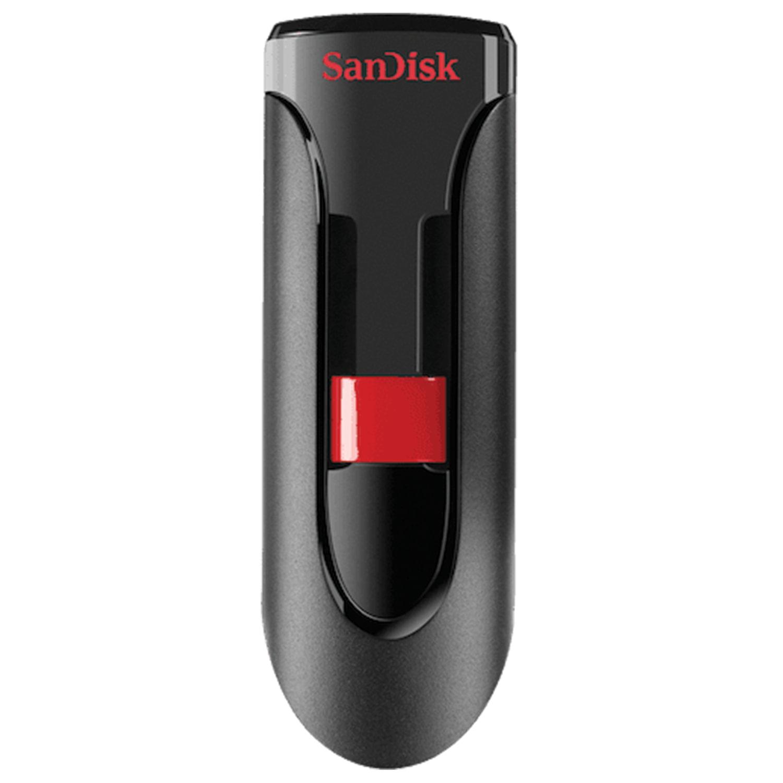 Флеш-диск 64 GB, SANDISK Cruzer Glide, USB 2.0, черный, SDCZ60-064G-B35