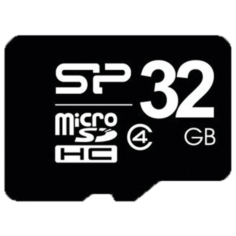 Карта памяти micro SDHC, 32 GB, SILICON POWER, 4 Мб/сек. (class 4), SP032GBSTH004V1