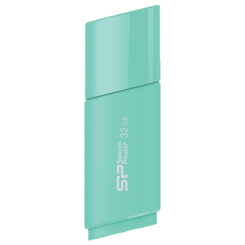Флеш-диск 32 GB SILICON POWER Ultima U06 USB 2.0, голубой, SP32GBUF2U06V1B