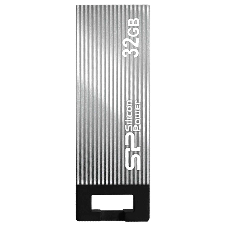 Флеш-диск 32 GB, SILICON POWER Touch 835, USB 2.0, металлический корпус, серый, SP32GBUF2835V1T