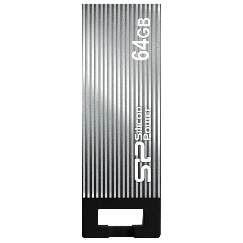 Флеш-диск 64 GB, SILICON POWER Touch 835, USB 2.0, металлический корпус, серый, SP64GBUF2835V1T