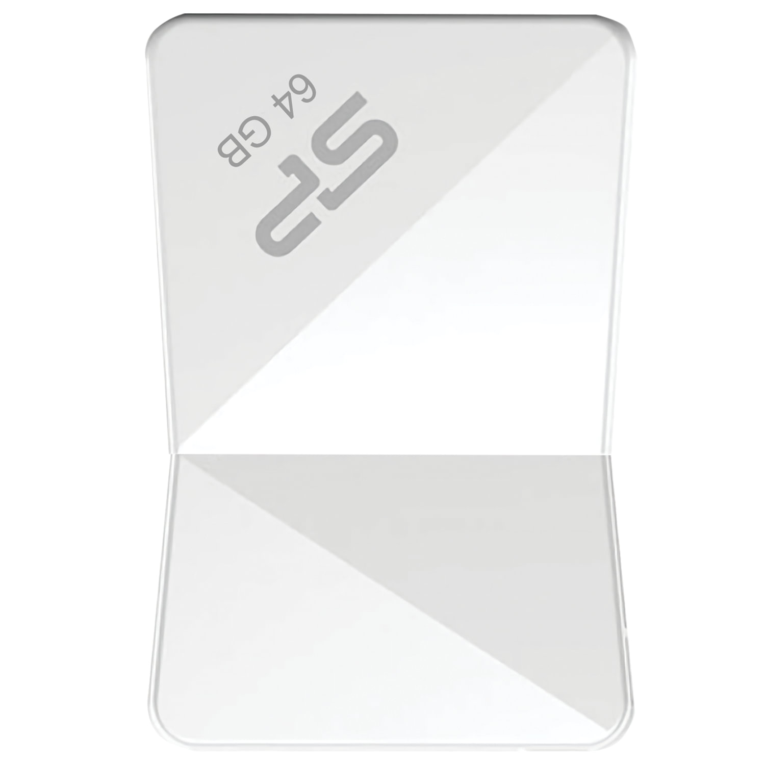 Флеш-диск 64 GB, SILICON POWER Touch T08, USB 2.0, белый, SP64GBUF2T08V1W