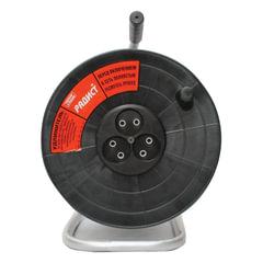 Удлинитель на катушке РАДИСТ РК16, 3 розетки без заземления, 50 м, 2х0,75 мм, 1300 Вт