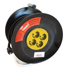 Удлинитель на катушке РАДИСТ РБК16-270-005, 4 розетки с заземлением, 50 м, 3х1,5 мм, 2200 Вт