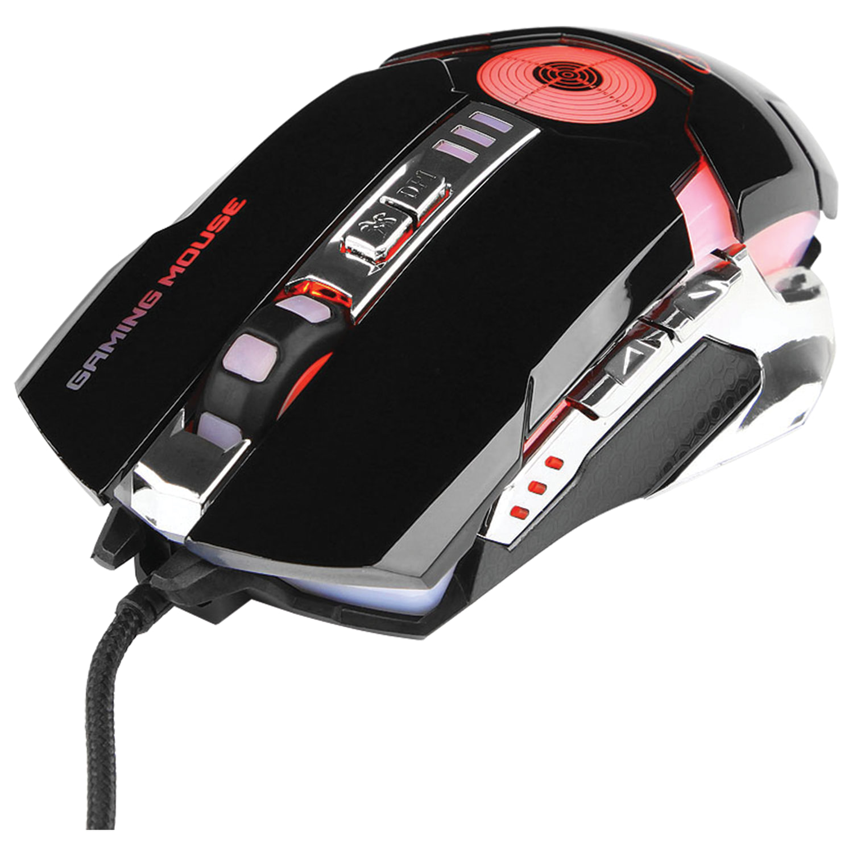Мышь проводная игровая GEMBIRD MG-530, USB, 5 кнопок + 1 колесо-кнопка, оптическая, черная