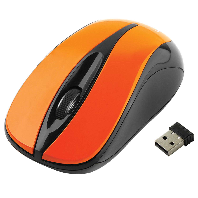 Мышь беспроводная GEMBIRD MUSW-325, 2 кнопки + 1 колесо-кнопка, оптическая, оранжевая