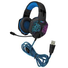 Наушники с микрофоном (гарнитура) SVEN AP-U980MV, проводные, 2,2 м, объемный звук 7.1, черно-синие