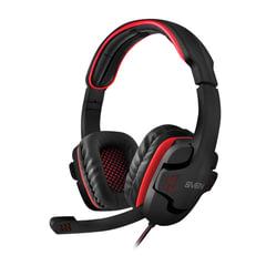 Наушники с микрофоном (гарнитура) SVEN AP-G855MV, проводные, 2,2 м, с оголовьем, черные, SV-015640