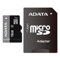 Карта памяти micro SDHC, 16 GB, A-DATA Premier, 50 Мб/сек. (class 10), с адаптером