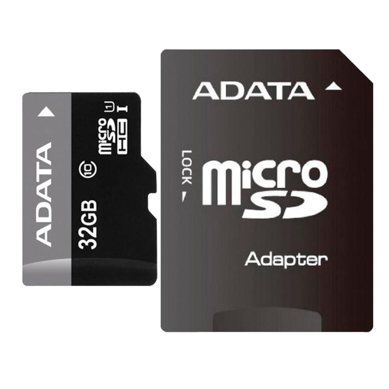 Карта памяти micro SDHC, 32 GB, A-DATA Premier, 50 Мб/сек. (class 10), с адаптером