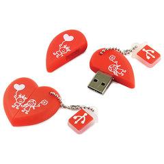 "Флеш-диск сувенирный 16 GB, SMARTBUY Wild ""Сердце"", USB 2.0, SB16GBHeart"