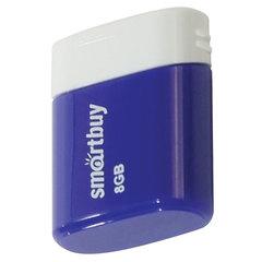 Флеш-диск 8 GB, SMARTBUY Lara, USB 2.0, синий, SB8GBLara-B