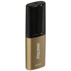 Флэш-диск 32 GB, SMARTBUY X-Cut USB 2.0, металлический корпус, коричневый/черный