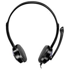 Наушники с микрофоном (гарнитура) SVEN AP-151MV, провод 1,2 м, с оголовьем, черные