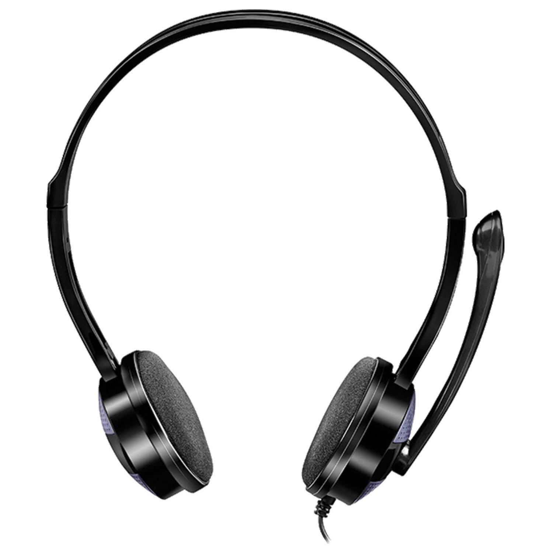 Наушники с микрофоном (гарнитура) SVEN AP-151MV, провод 1,2 м, с оголовьем, черные, SV-015411