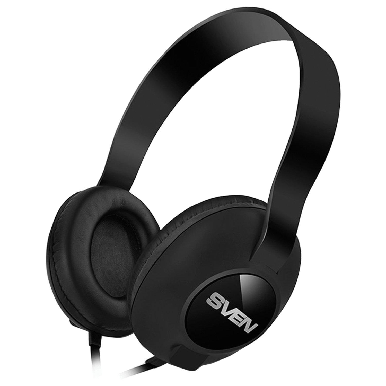 Наушники с микрофоном (гарнитура) SVEN AP-310M, провод 1,2 м, с оголовьем, черные