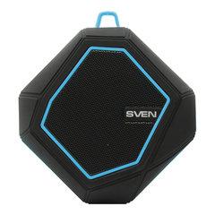Колонка портативная влагозащищенная SVEN PS-77, 1.0, 5 Вт, Bluetooth, FM, microSD, MP3, черная, SV-016432