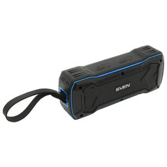 Колонка портативная влагозащищенная SVEN PS-220, 2.0, 10 Вт, Bluetooth, FM, microSD, MP3, черная, SV-016470